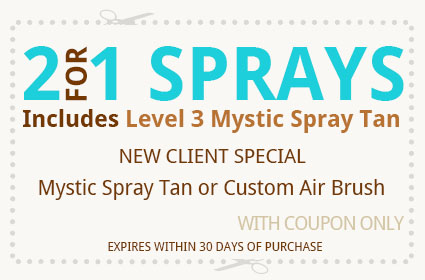 2 for 1 Sprays coupon